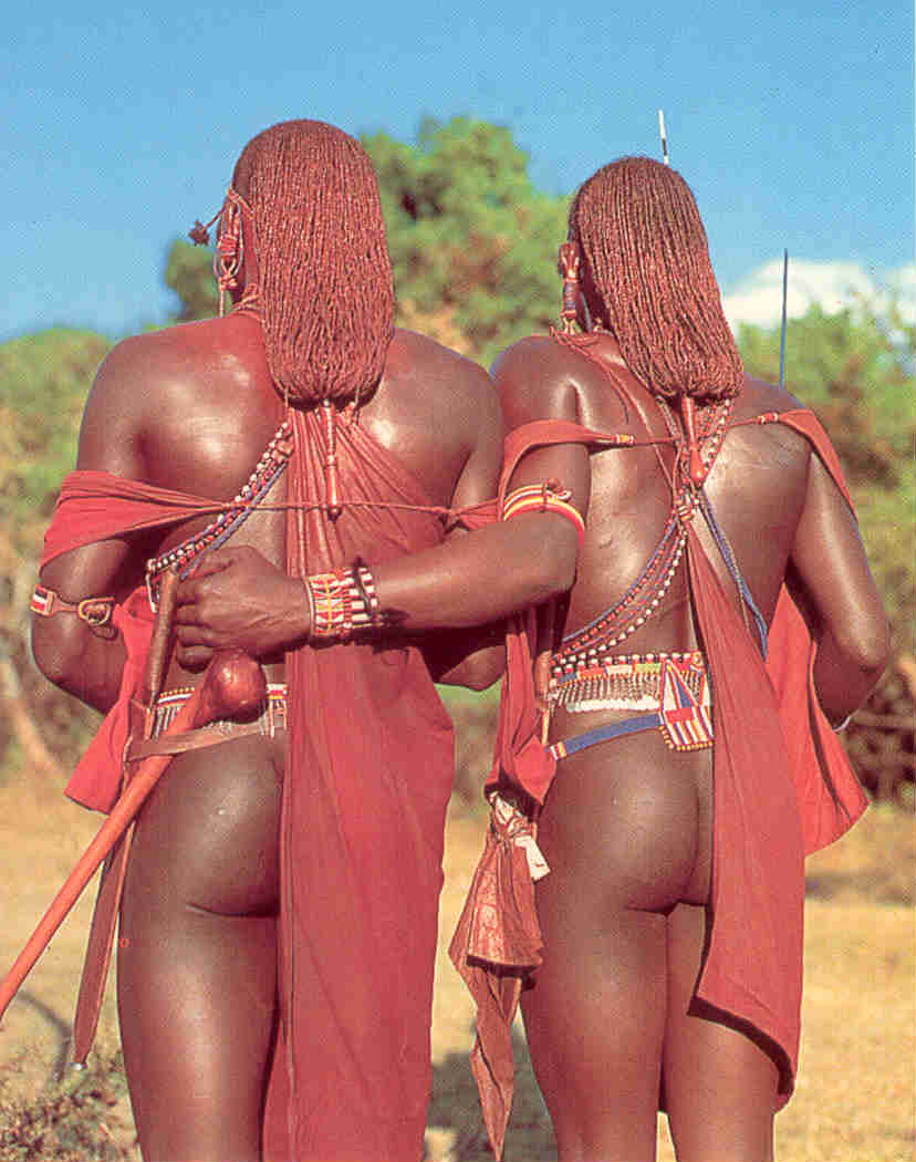 Maasai warriors of Ngorongoro