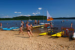 Beach in Lipno